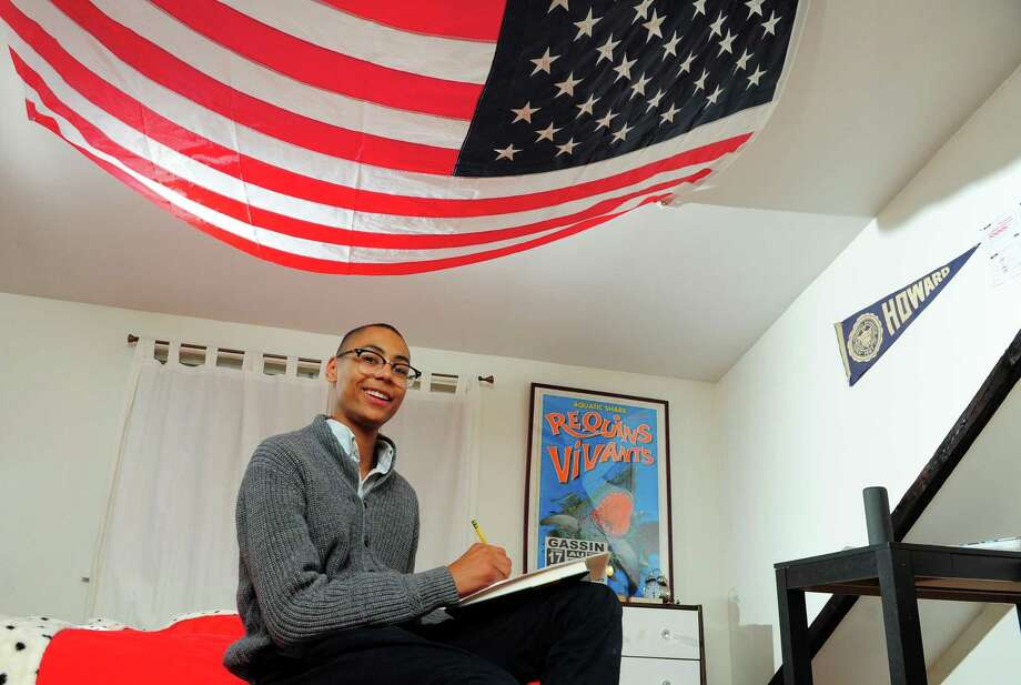 Chet Ellis, winner of TEAM Westport's Teen Diversity Essay Contest, Photo: Christian Abraham / Hearst Connecticut Media / Connecticut Post