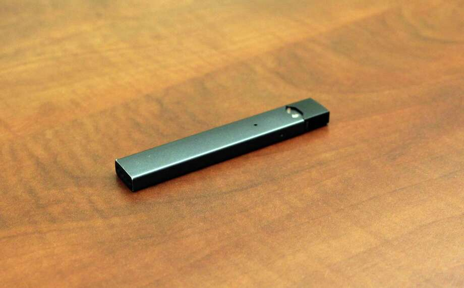 A Juul vaping device confiscated from a student in New Canaan . Photo: Erin Kayata / Hearst Connecticut Media / New Canaan News