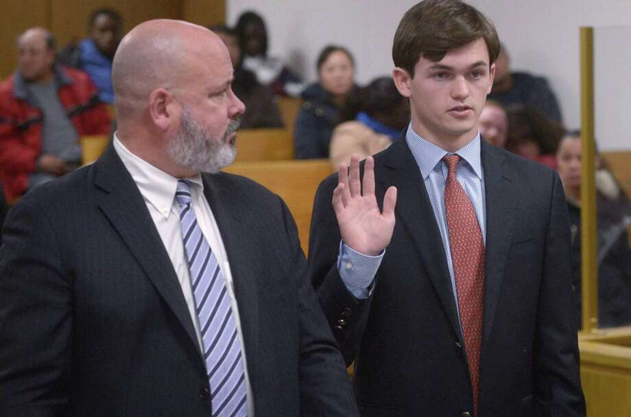 Jack Joyce, 18, in state Superior Court in Norwalk on Dec. 14. Photo: Erik Trautmann / Hearst Connecticut Media / Norwalk Hour