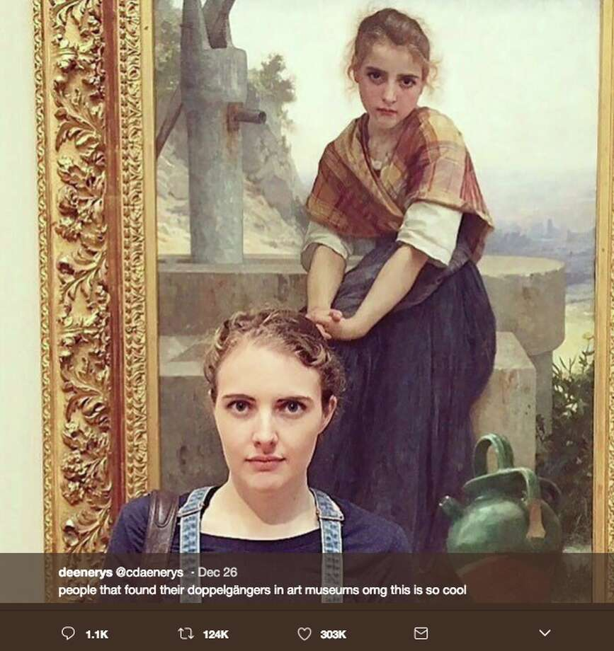 People found their doppelgangers in art museums and shared the uncanny resemblances on Twitter. Photo: Twitter Screen Grab