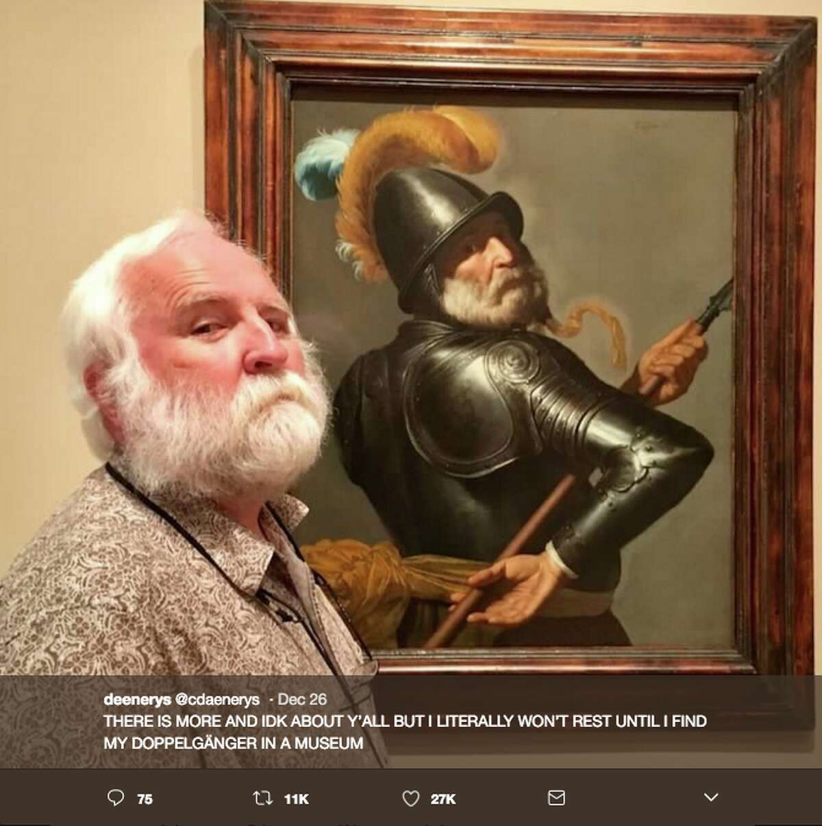 People found their doppelgangers in art museums and shared the uncanny resemblances on Twitter.