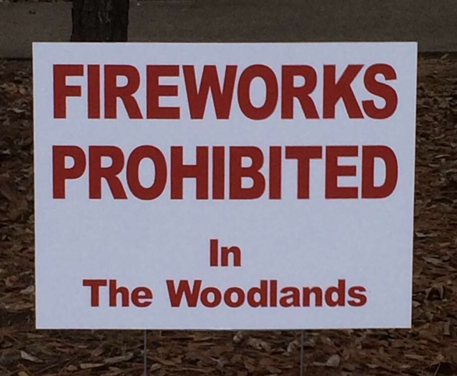 Fire officials in The Woodlands are reminding people that fireworks are banned in the township. Photo: John S. Marshall