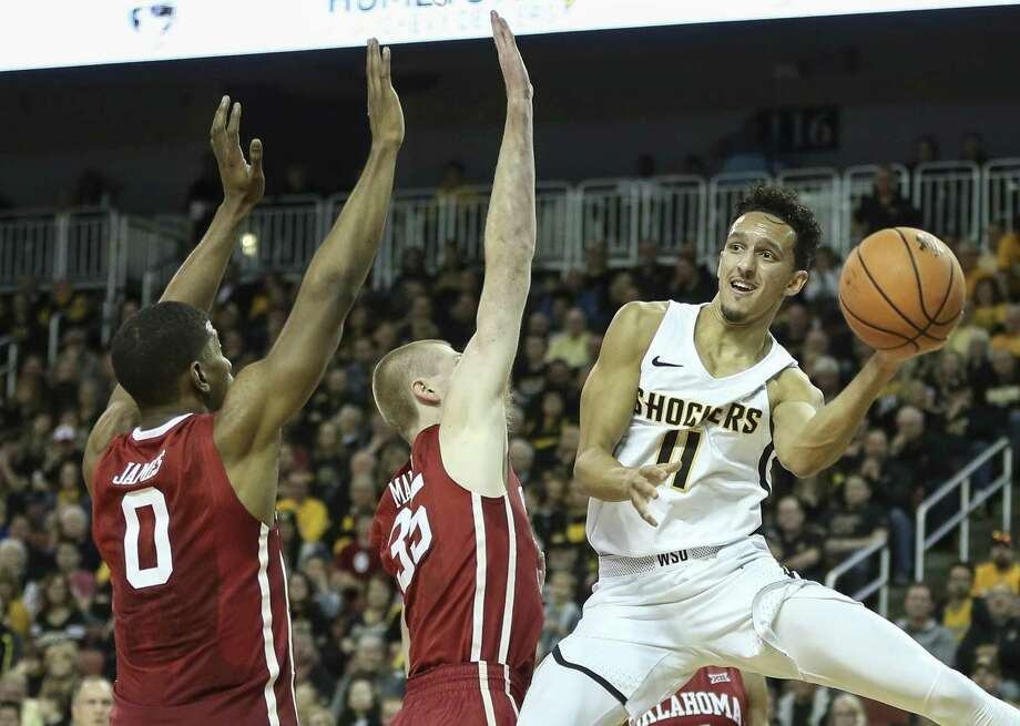 Landry Shamet, right, and Wichita State will make their AAC debut on Saturday at UConn. Photo: Travis Heying / Wichita Eagle / Wichita Eagle
