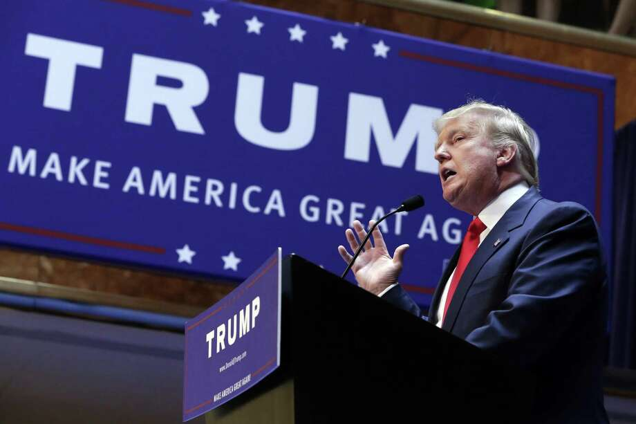 From the start, Donald Trump has cultivated anxiety about Latinos. It began with his announcement he was running for president — shown here at Trump Towers June 16, 2015. He characterized Mexican immigrants as rapists and criminals. Photo: Richard Drew /Associated Press / AP