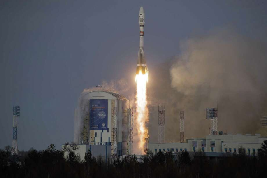 A Russian Soyuz 2.1b rocket carrying satellites lifts off from the Vostochny cosmodrome outside the city of Tsiolkovsky. Nations warring on each other's satellites would be detrimental to the U.S. Photo: Dmitri Lovetsky /Associated Press / Copyright 2017 The Associated Press. All rights reserved.
