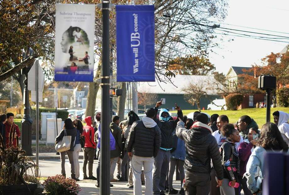 ADT named the University of Bridgeport the safest campus in Connecticut. Students on the University of Bridgeport campus in Bridgeport, Conn. on Wednesday, November 15, 2017. Photo: Brian A. Pounds / Hearst Connecticut Media / Connecticut Post