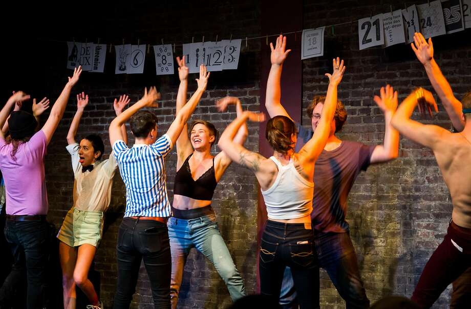 S.F. Neo-Futurists' per formers stay themselves in each show. Photo: Ben Lerchin, San Francisco Neo-Futurists