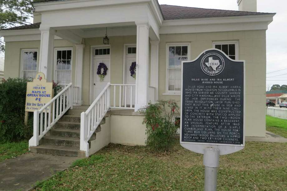 The Columbus house where Dilue Rose Harris, her husband and their nine children lived is open to the public. He was a Texas Ranger who later became Colorado County sheriff. Photo: Joe Holley / Houston Chronicle