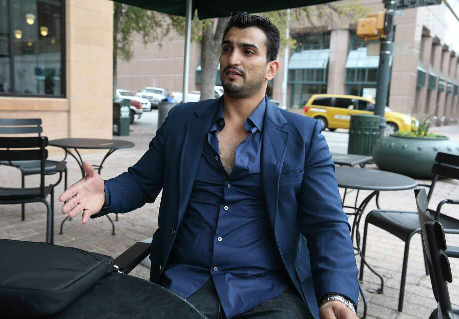 Mohanad Albdairi, an Austin resident who has served in the New Iraqi Army, talks about his quest to enlist here. Photo: Tom Reel, Staff / 2017 SAN ANTONIO EXPRESS-NEWS