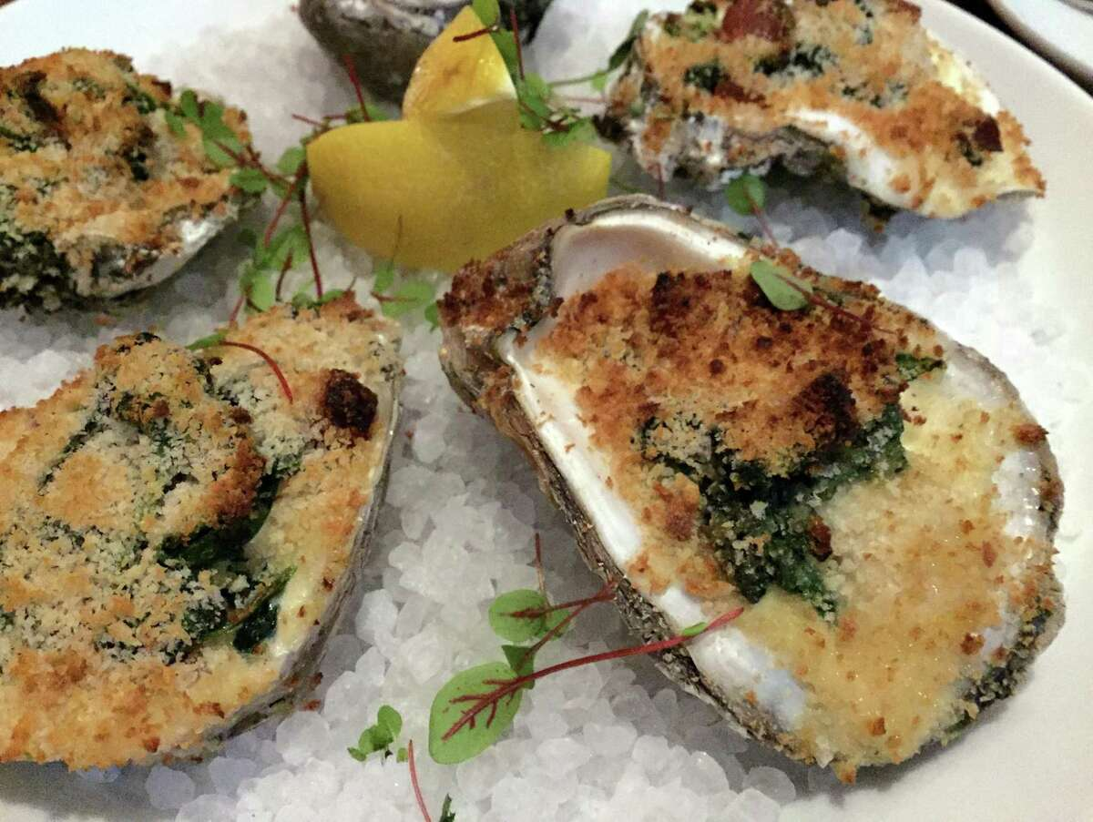 Oysters Rockefeller at Silo Prime stand out with a splash of fennel-infused cream.