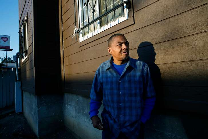 Richard Fisher on Monday December 18, 2017, in Oakland, Ca. Fisher who is disabled was able to get into an apartment of his own with help from Season of Sharing, after living in his camper.