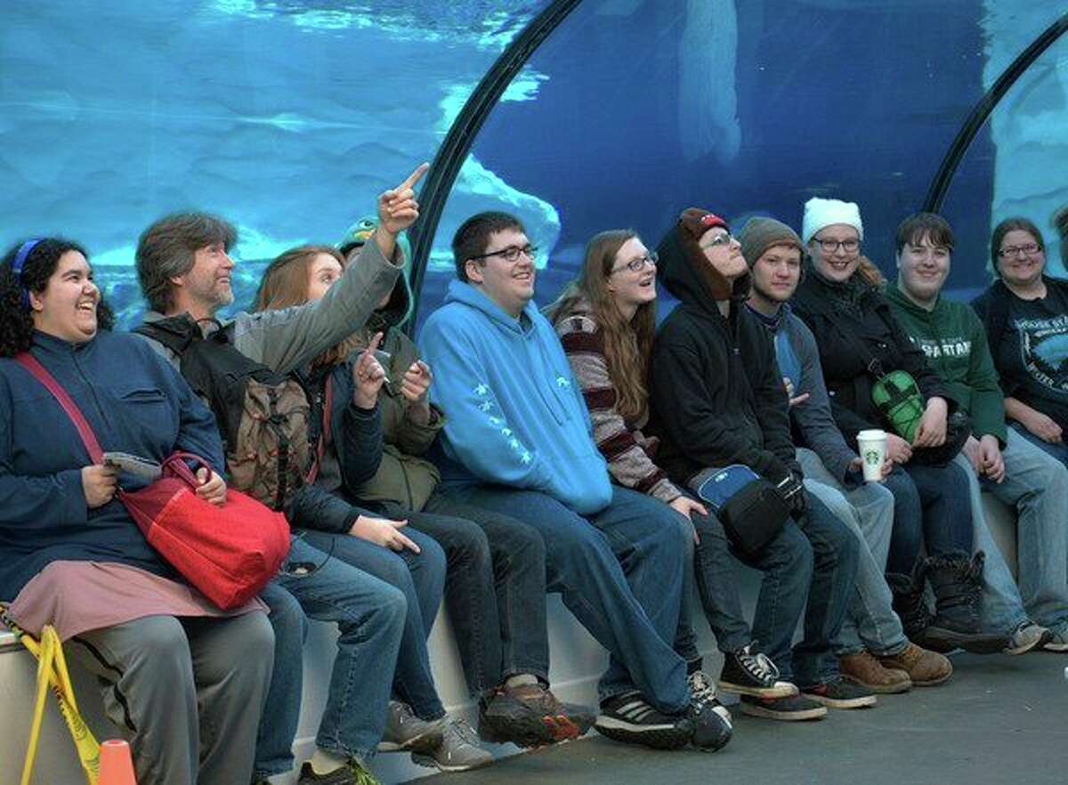 Mid Michigan Community College Conservation and Nature Club students visit the Detroit Zoo. (Photo provided)