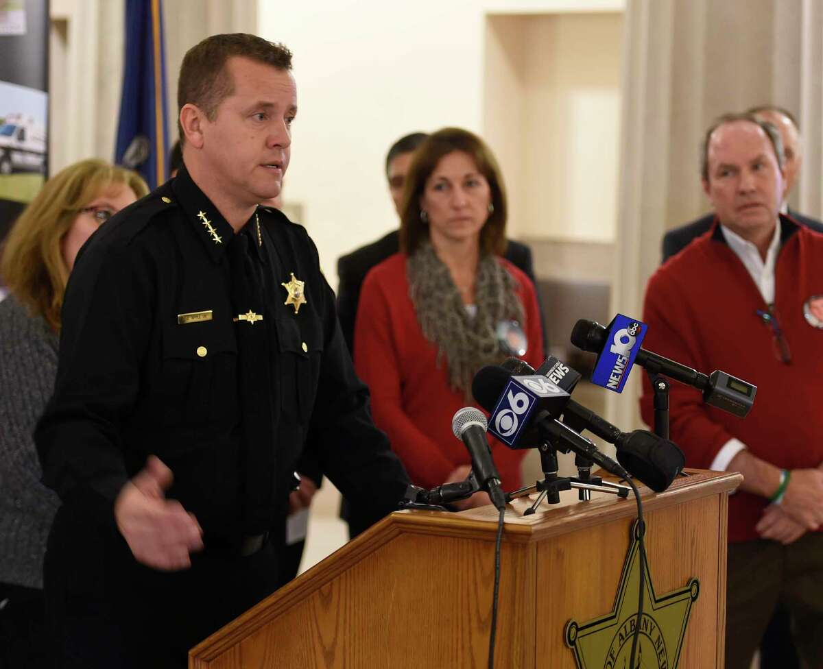 Albany County Sheriff Craig Apple said dozens of immigrants are being housed at the Albany County jail under contract with the federal government. (Skip Dickstein/Times Union)