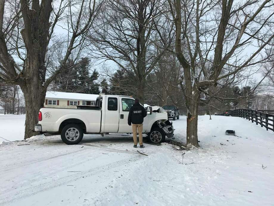 Columbia County police are investigating a Dec. 30, 2017 accident on Waldorf Road in Chatham. Photo: Courtesy Of Columbia County Sheriff's Office