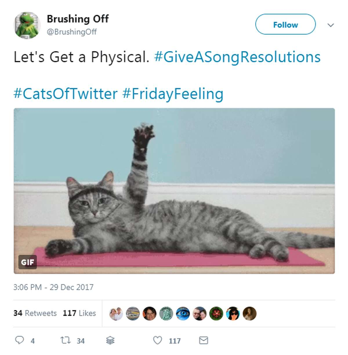 Twitter users share their resolutions in hilarious tweets using the hastag, #GiveASongResolutions. Photo: Twitter