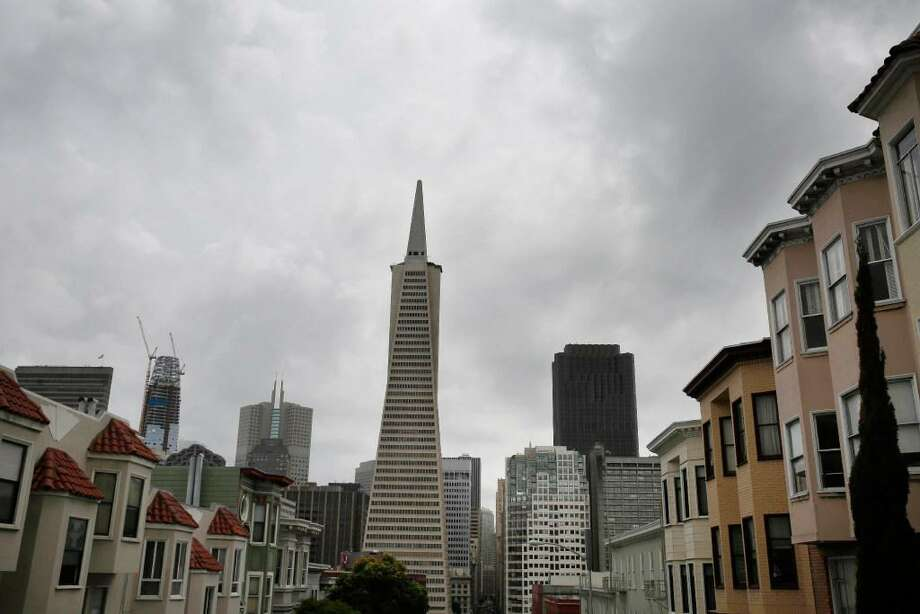 Clouds are seen over downtown San Francisco in April. Wet weather is forecast to return to the region in early January after a dry December. Click through the gallery for a recap of weird weather that came to California in 2017. Photo: Lea Suzuki / The Chronicle / /