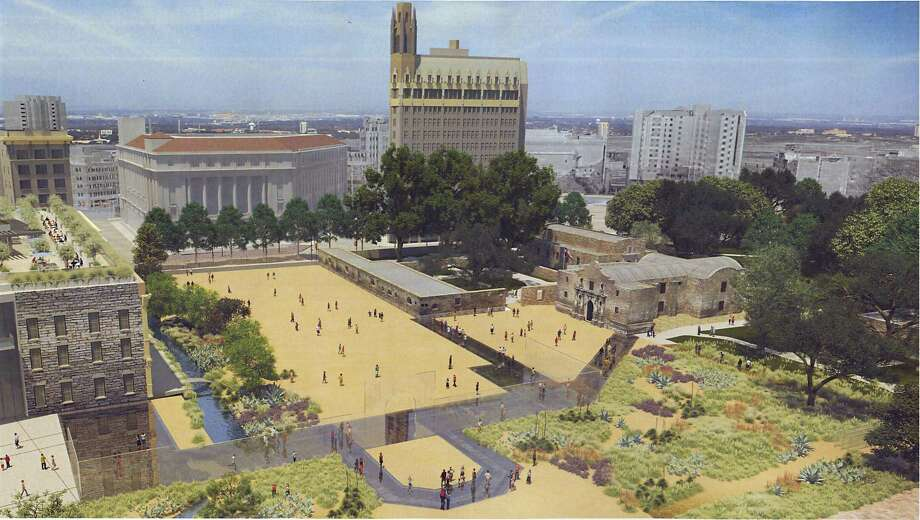 The Alamo Plaza may soon be closed to vehicle traffic Photo: Courtesy, Texas General Land Office / Courtesy / Texas General Land Office