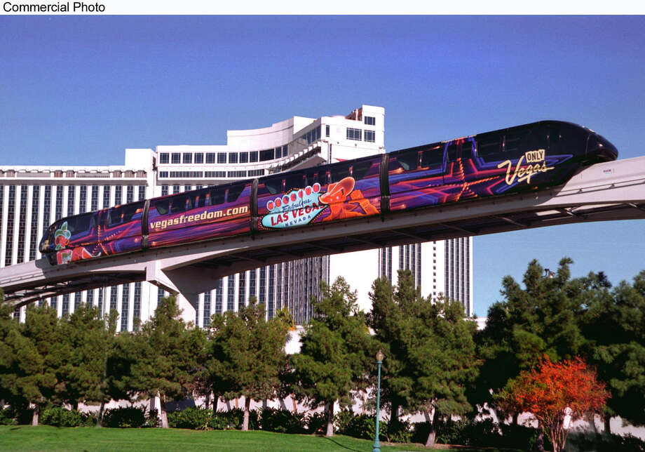 The new Las Vegas Monorail now makes it possible to travel the length of the Las Vegas Strip in under 15 minutes at speeds of up to 50 mph. The 4.4 mile route stops at the following stations: MGM Grand; Bally's/Paris; Flamingo/Caesars Palace; Harrah's/Imperial Palace; the Las Vegas Convention Center; the Las Vegas Hilton; and the Sahara. Plans are underway for the monorail to extend downtown to the Fremont Street Experience and eventually to McCarran International Airport. (PRNewsFoto) / LAS VEGAS MONORAIL