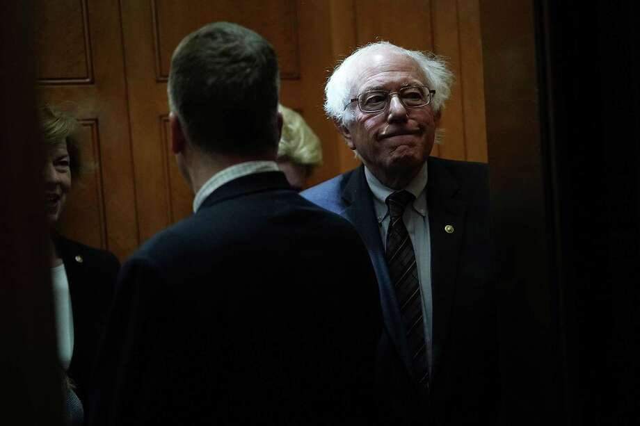 WASHINGTON, DC - DECEMBER 21:  U.S. Sen. Bernie Sanders (I-VT) leaves after a vote to fund the government December 21, 2017 at the Capitol in Washington, DC. The Senate has passed a continuing resolution to temporarily fund the government through January 19, 2018.  (Photo by Alex Wong/Getty Images) Photo: Alex Wong, Staff / Getty Images / 2017 Getty Images