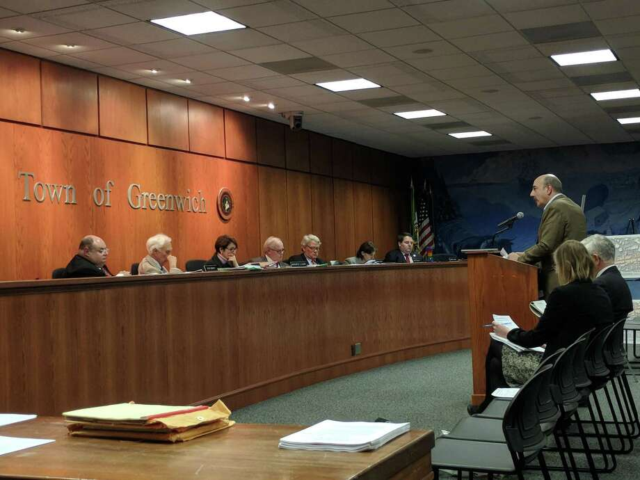 Developer Joe Tranfo addresses the Planning and Zoning Commission in December. Photo: Jennifer Turiano
