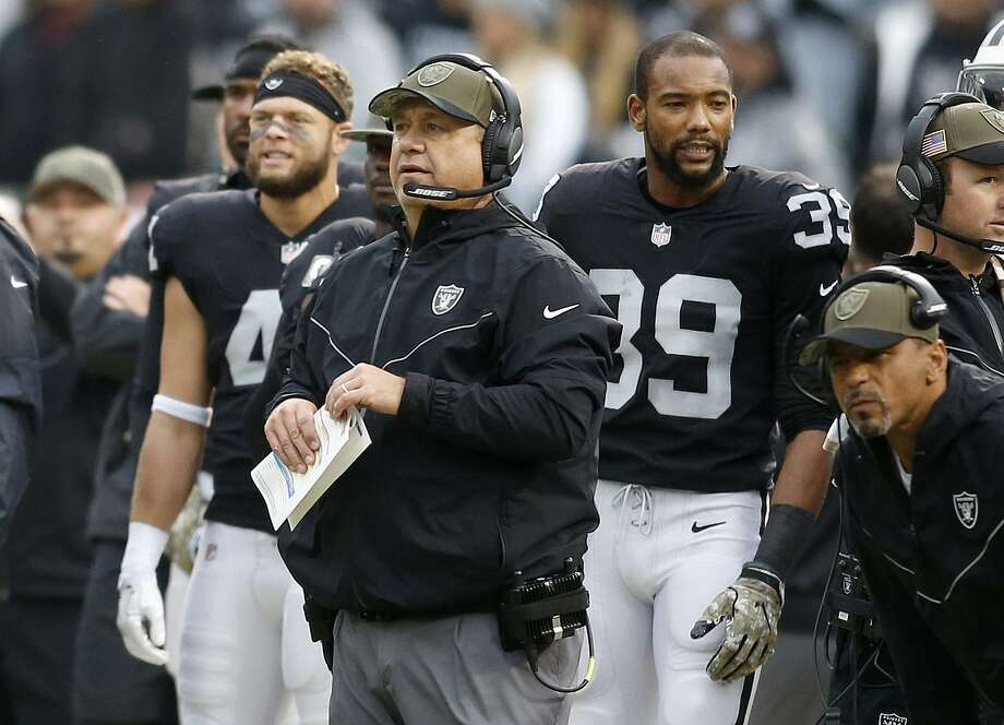 The Raiders defense has notched some major improvements since defensive coordinator John Pagano took over 10 games into the season. Oakland next faces Pagano's old team, the Chargers. Photo: D. Ross Cameron / D. Ross Cameron / AP / FR39290 AP