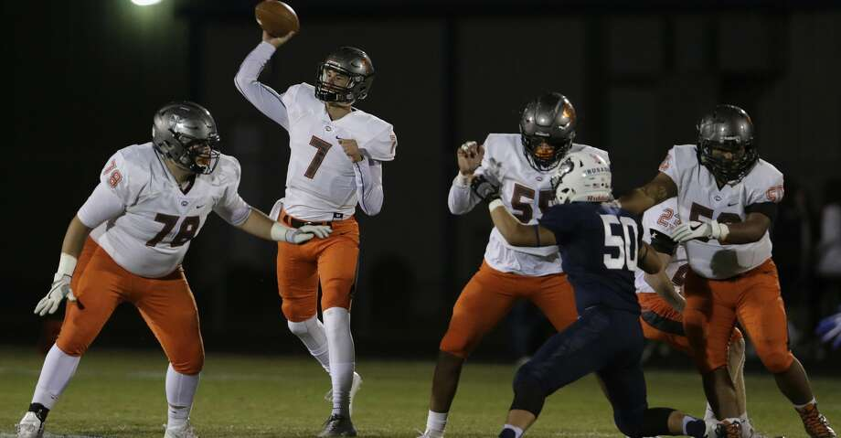 PHOTOS: AGH offenseOffensive first teamQuarterback Grant Gunnell, Jr., St. Pius XGunnell was just 64 yards off a 5,000-yard campaign through the air and threw 61 touchdown passes for a team that made the TAPPS Division I state final. The scary part? The Texas A&M pledge's numbers were slightly down from his sophomore season. Gunnell's finale next year will be something to behold.Browse through the photos to see the Chronicle's selections for All-Greater Houston football offensive teams. Photo: Tim Warner/For The Chronicle