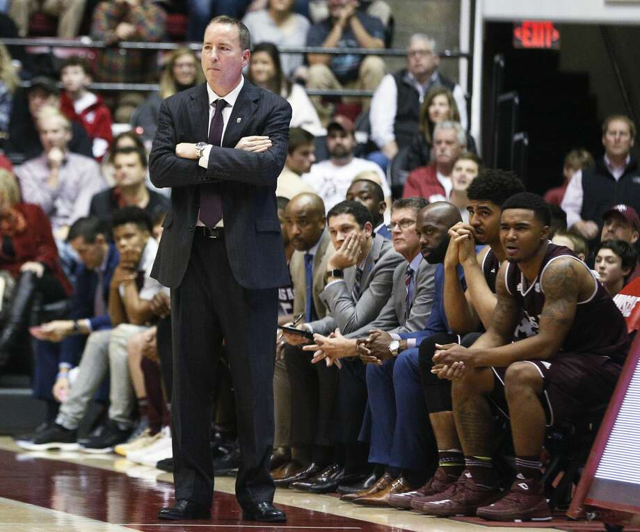 Texas A&M coach Billy Kennedy stands on the sideline during the second half of the team's NCAA college basketball game against Alabama, Saturday, Dec. 30, 2017, in Tuscaloosa, Ala. (AP Photo/Brynn Anderson) Photo: Brynn Anderson/Associated Press