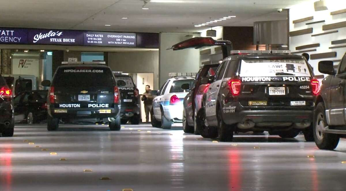 Houston police have arrested a man who was initially going to be charged with drunk and disorderly conduct at a downtown hotel, until officers discovered an arsenal of weapons in his room.