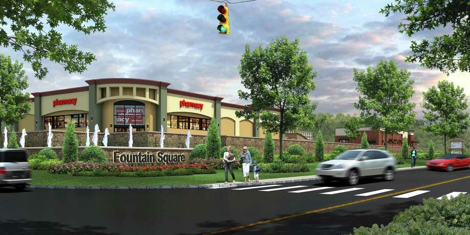 A rendering of Fountain Square, 801 Bridgeport Ave. in Shelton. Photo: Contributed Rendering / Connecticut Post Contributed