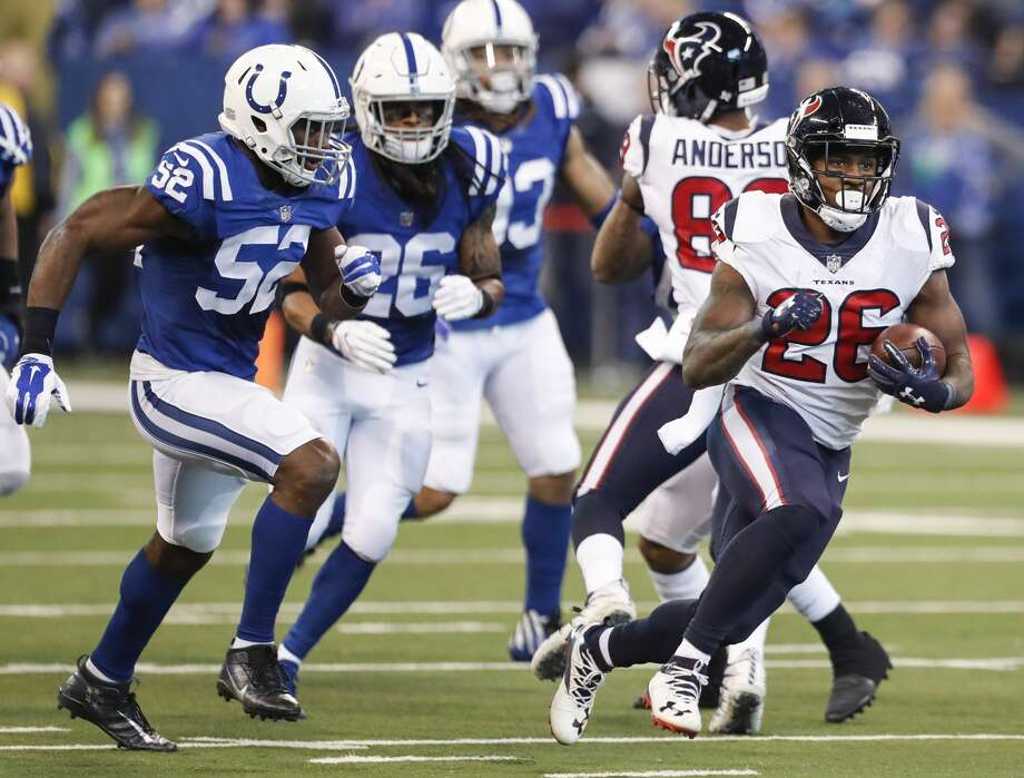 Running backAt halftime, the Texans were on their way to 136 yards rushing. They finished with 85 after generating only 17 in the second half. It was a pathetic performance over the last two quarters.Grade: F-plus Photo: Brett Coomer/Houston Chronicle