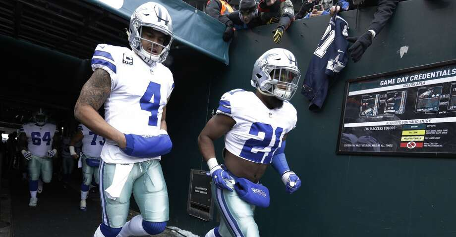 The Cowboys will look to get a whole season's production out of quarterback Dak Prescott (4) and running back Ezekiel Elliott after a suspension sidelined the latter for much of last year. Photo: Chris Szagola/Associated Press