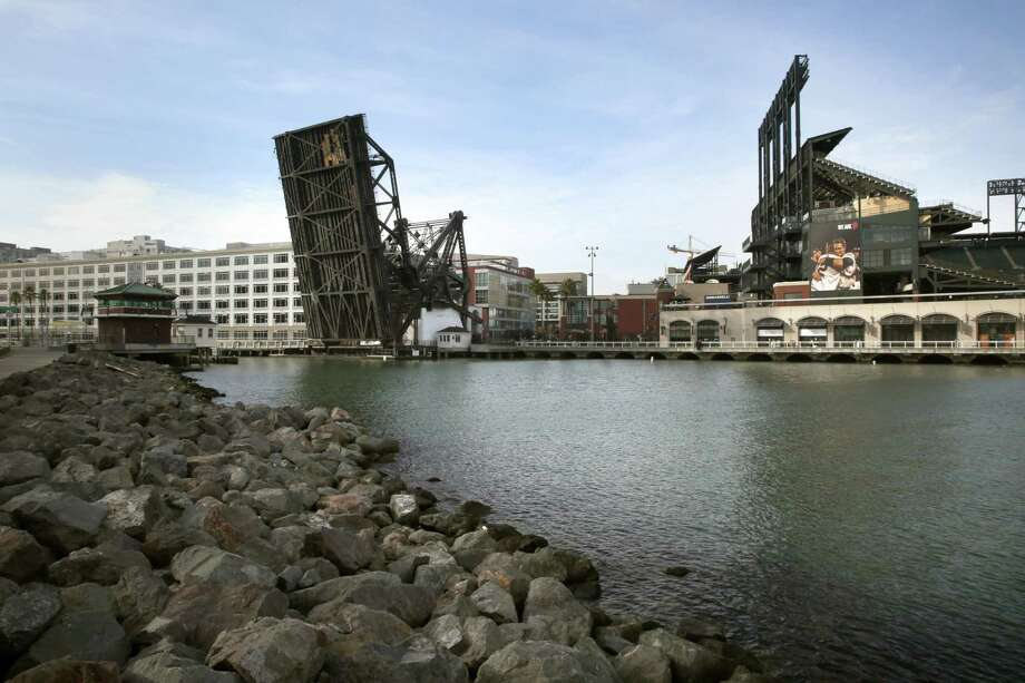 The Lefty O'Doul Bridge crosses Mission Creek channel, once the busiest place on the waterfront. Photo: Liz Hafalia / Liz Hafalia / The Chronicle / online_yes