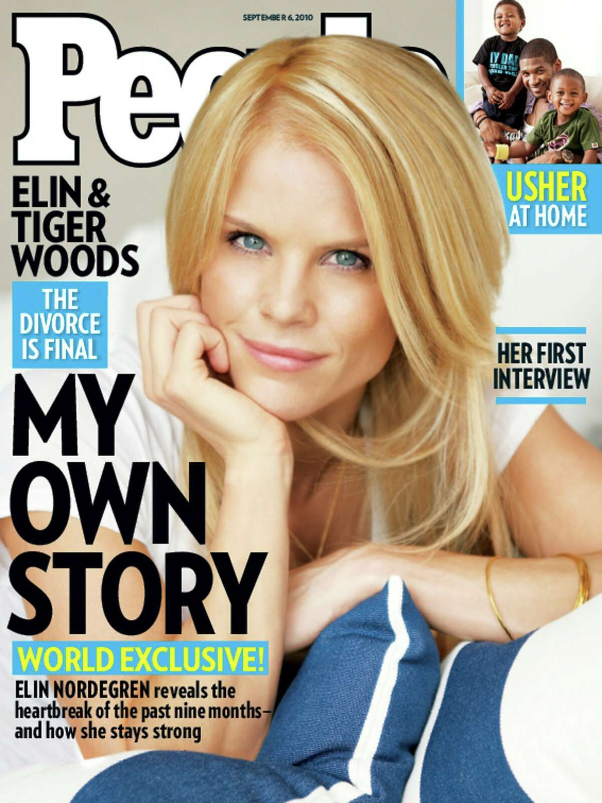 This image courtesy of People Magazine shows Elin Nordegren on the September 6, 2010 cover of People magazine.Tiger Woods's ex-wife Elin Nordegren has broken her silence about the couple's failed marriage, in an interview with People magazine published August 25, 2010, expressing