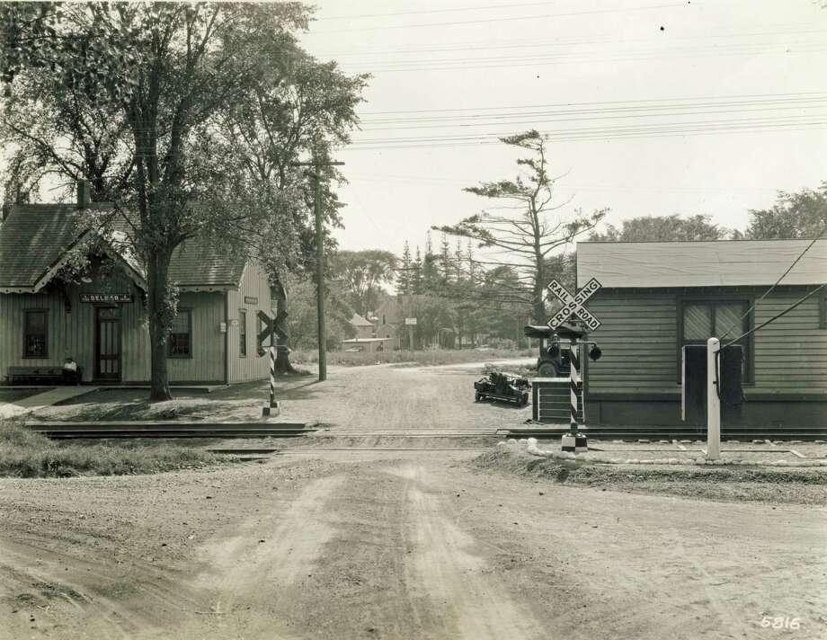 The Delmar train station in the early 20th century