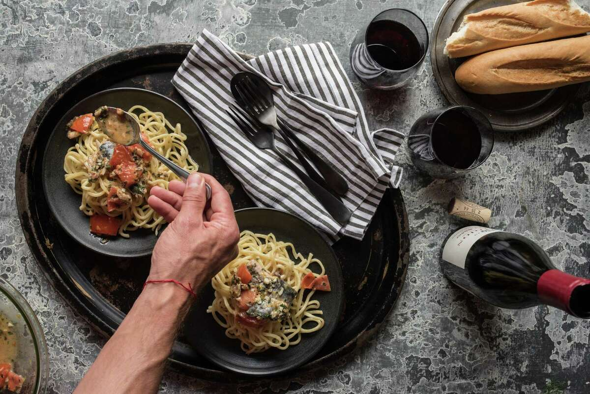 Pasta con Sarde (pasta with sardines) from