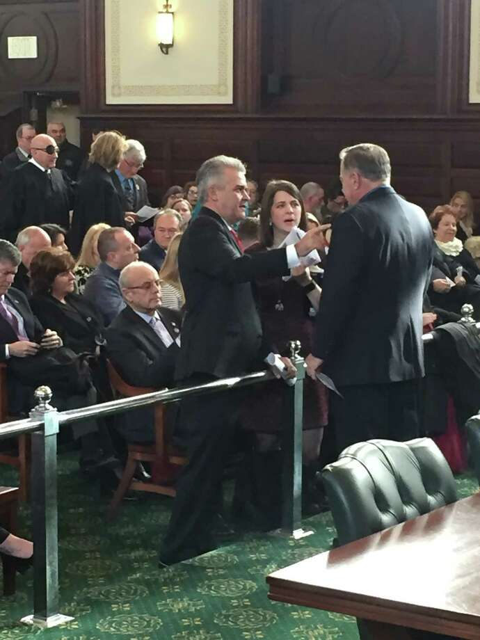 Steve McLaughlin at the Rensselaer County Courthouse Monday, Jan. 1, 2018, before being sworn in as County Executive.  Photo: Claire Hughes / Times Union