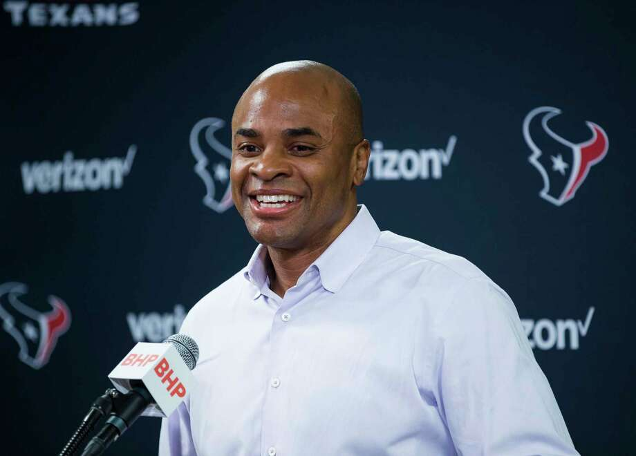 Houston Texans general manager Rick Smith speaks to the media from the media workroom at NRG Stadium, Monday, Jan. 1, 2018, in Houston. Smith announced that he will be taking an extended leave of absence to help care for his wife, Tiffany, who was diagnosed with breast cancer in 2017, Smith said. ( Mark Mulligan / Houston Chronicle ) Photo: Mark Mulligan, Houston Chronicle / © 2018 Houston Chronicle