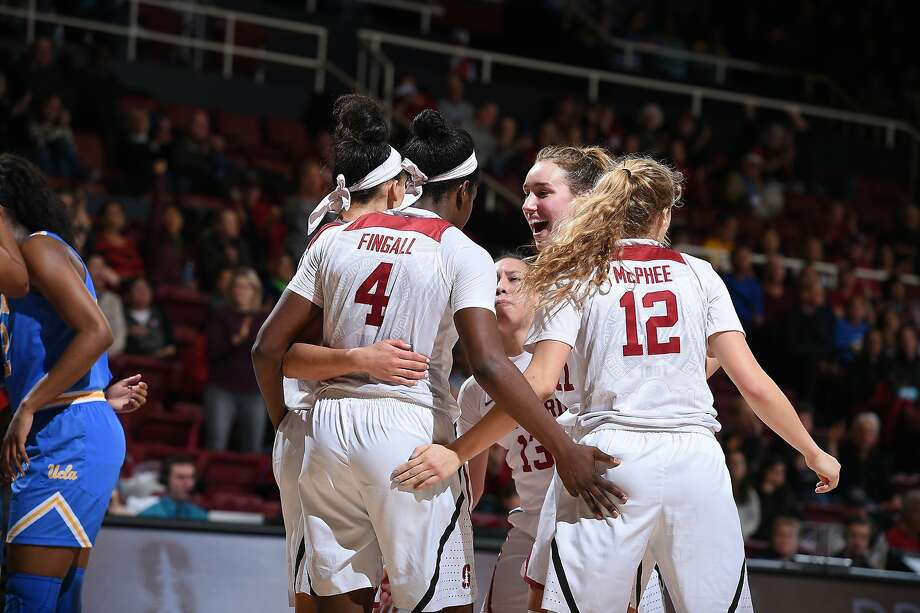 Stanford's players are enthused during their win over UCLA on Friday. The Cardinal returned to the Top 25 on Monday. Photo: Richard Ersted / ISIPhotos