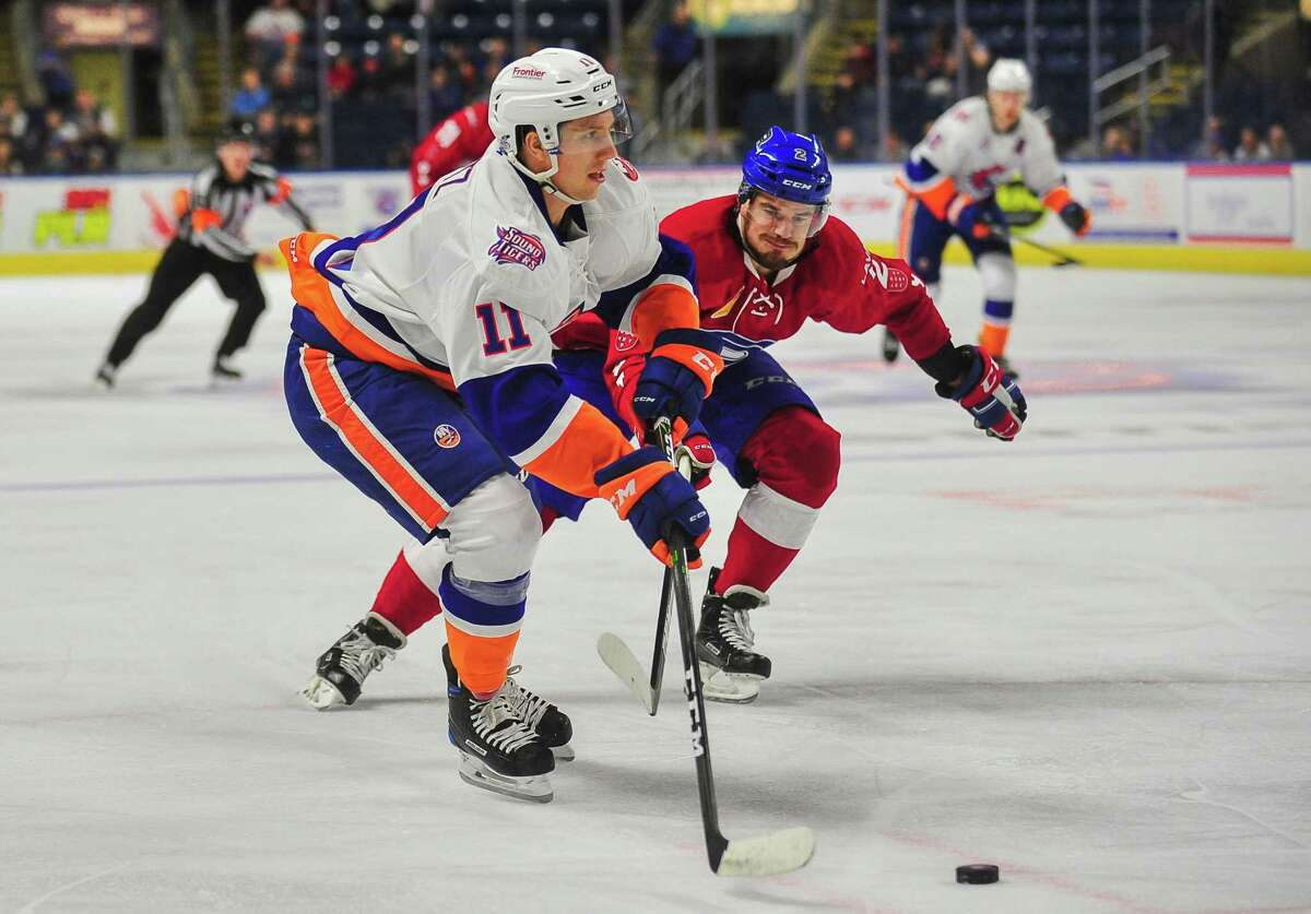 Tanner Fritz of the Bridgeport Sound Tigers was called up by the New York Islanders on Monday.
