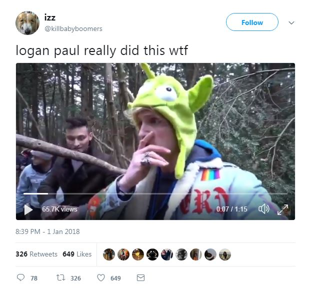 Ap Was There Shock Then Terror As Columbine Attack: YouTuber Logan Paul Under Fire For Posting 'Sickening