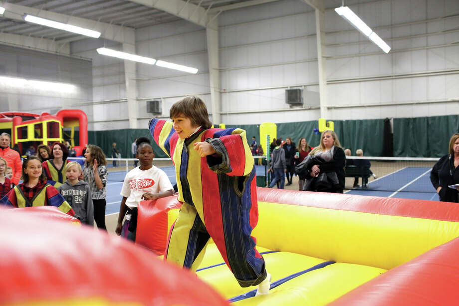 The 15th Annual Glen-Ed Last Night celebration was conducted on New Year's Eve at the Edwardsville YMCA's Meyer Center. The event offers an a family-friendly evening of skating, inflatables, rock climbing, games, music and more. Proceeds from this year's event were donated to the Fellowship of Christian Athletes and the Edwardsville YMCA. Photo: Marci Winters-McLaughlin
