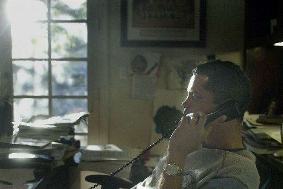 File photo. Bill Duffy does much of his work on the phone at his office in Walnut Creek, Calif. Photo: Lea Suzuki /San Francisco Chronicle