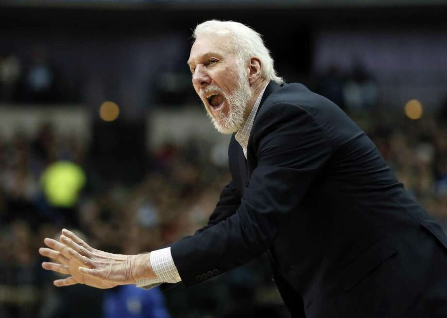 Gregg Popovich is frequently asked to weigh in on issues. Photo: Tony Gutierrez /Associated Press / Copyright 2017 The Associated Press. All rights reserved.