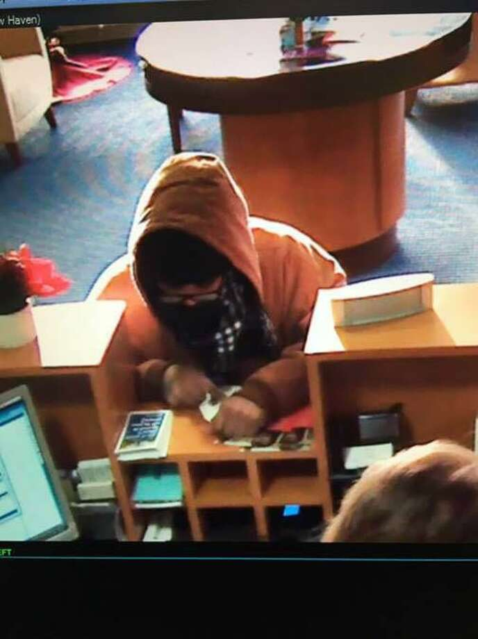 Police are looking for help identifying the suspect in a bank robbery Tuesday morning. Photo: Courtesy Of New Haven PD