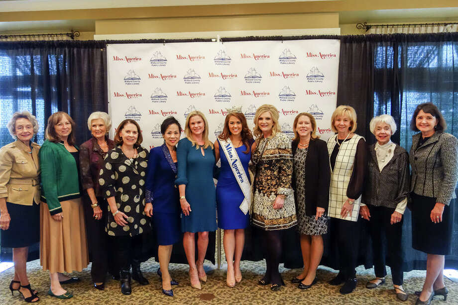 Miss America 2017: left to right: Emily Goodfellow, Peggy Davis, Evalyn Halvorsen, Beverly Drummond, Nancy Leung, Rachel Bohler, Cara Mund, Victoria Printz, Sherry Robb, Kim Hatchett, Ricki Perry, and Audrey Curry Photo: Courtesy Photo