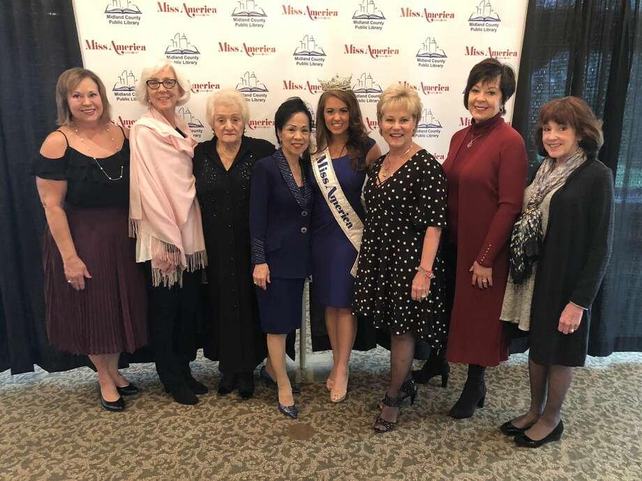 Miss America 2017: Cassie Willet, Janet Ansley, Genia Thomas, Nancy Leung, Cara Mund, LaNell Honeyman, Libby Sharp, Betty Shaffer  Photo: Courtesy Photo