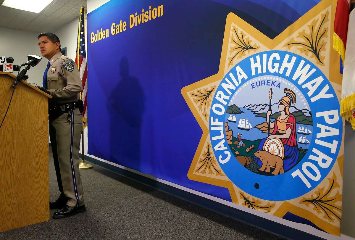 CHP Assistant Chief Ernie Sanchez, commander of the Golden Gate Division, appears at a news conference in Vallejo, Calif. on Tuesday, Jan. 2, 2018 to announce that second degree murder charges and four other counts have been filed against Mohammed Abraar Ali, 22, for the death of Highway Patrol Officer Andrew Camilleri on Christmas Eve. Camilleri was working a maximum enforcement DUI patrol along with his partner, Officer Jonathan Velasquez, when their vehicle was struck by a car allegedly driven by Ali, who authorities say was under the influence of alcohol and drugs.