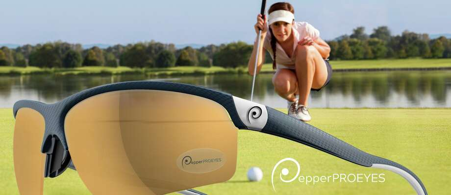 LPGA champion Dottie Pepper and Saratoga Springs optician Susan Halstead have teamed up to produce Pepper ProEyes, a brand of prescription and non-prescription sunglasses. Photo: Pepper Pro Eyes