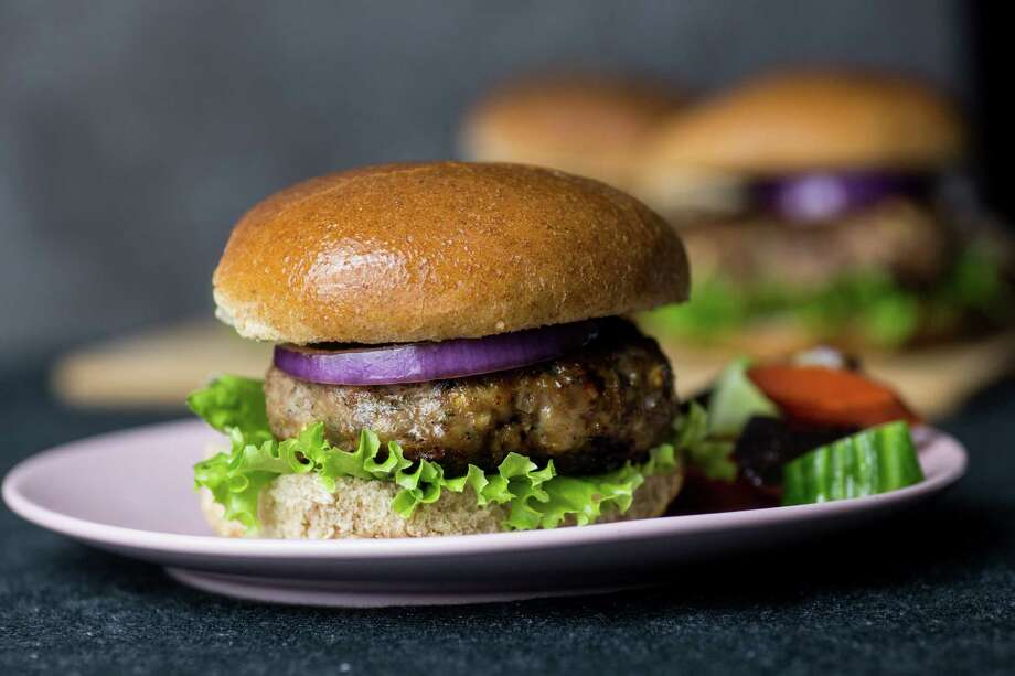 Turkey Burgers With Feta and Dill. Photo: Photo By Jennifer Chase For The Washington Post. / For The Washington Post