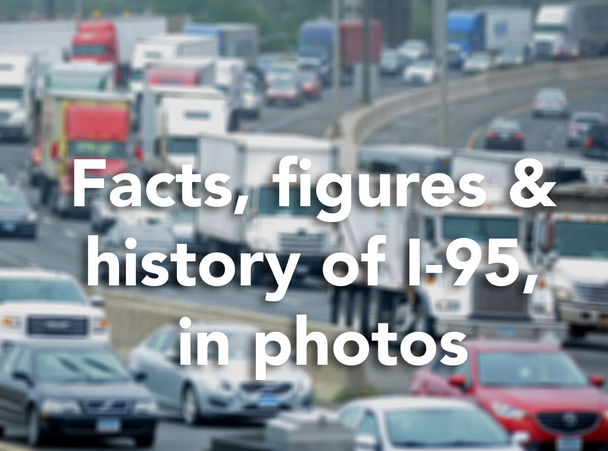 Most of the Connecticut portion of Interstate 95 opened to the public on Jan. 2, 1958. Click through for some facts, figures and history of I-95 in Connecticut.